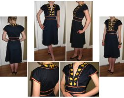 Hand-embroidered Dress by KingNapoleon