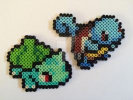 bulbasaur + squirtle by felinescubicle