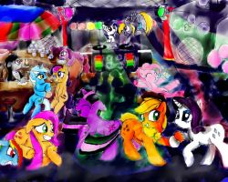 Request: Pony Rave by AquaticSun