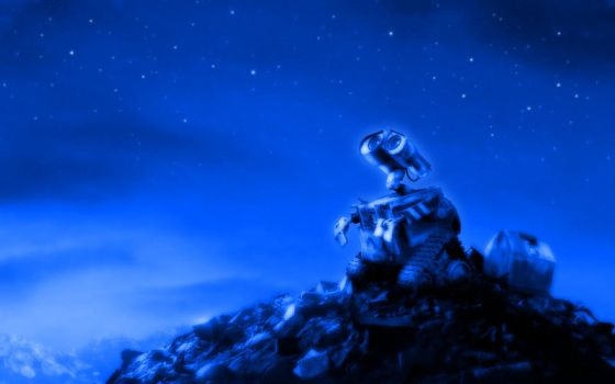 Wall-E Looking At The Stars 2 by PixelOz