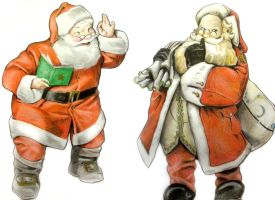 Santa Claus - 2 versions by PolishPsycho
