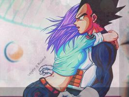 Vegeta and Bulma Wallpaper by obsessive-fan-girl