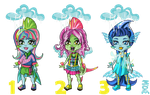 Rain Fishes for Adoption CLOSED by mi-chie