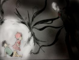 Slenderman and Ponyo by Omnipotrent