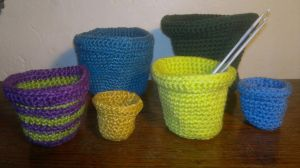 Crochet Flower Pots by RuthNorbury