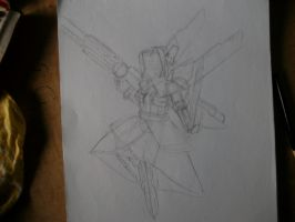 Rayna Mellow: Battle Mode Sketch by MarcGo26