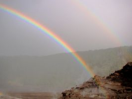 Rainbow in the Volcano by Geotripper