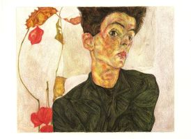 Self Portrait-Egon Schiele by J-o-a-n