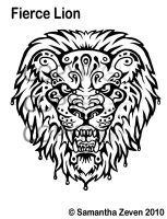 Fierce Lion Tattoo Design by The-Monstrum