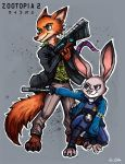 Nick and Judy - Zootopia/Psychopass 02 by TheLivingShadow