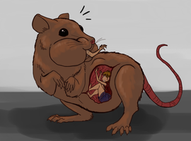 Macro Mousey (colored sketch) by SpidersVore