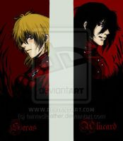 Hellsing Bookmarks 1 coloured by taintedfeather