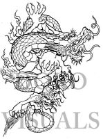 Japanese dragon tattoo design by Ojibway-Doko