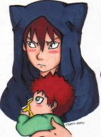 Kankuro and Gaara by funeralgirl