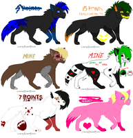 Adoptables~ .:Cheap/Free:. ALL GONE by Sesshomaru-XD-13