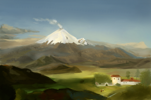 Frederic Edwin Study 01 : Cotopaxi by CarlosArthur