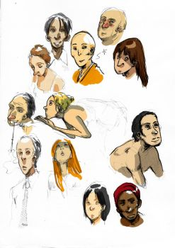 Some faces by chijuku
