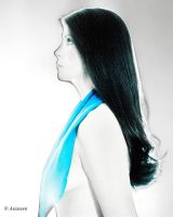 Turquoise scarf by asiaseen