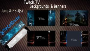 Twitch.TV background Pack by Ahmed7193