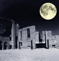 Saint Boniface Cathedral at Night With Moon by Joe-Lynn-Design