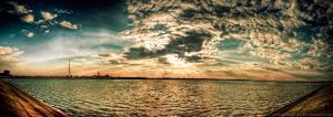 Lake at sunset - Panoramic HDR by ScorpionEntity