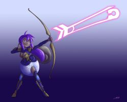 Kitsuna the poof archer by The-Padded-Room