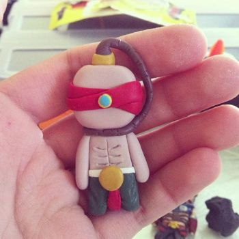 Lee Sin Keychain Polymer clay League of Legends by Stawry