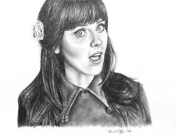 Zooey Deschanel by rachbeth