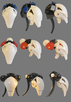 Lego: Female Head Concepts by retinence