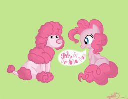 Pinkie and a Poodle by KbCookie