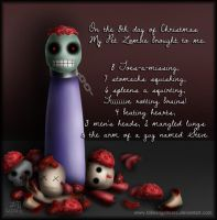 My Pet Zombie Christmas Day 8 by fallnangeltears