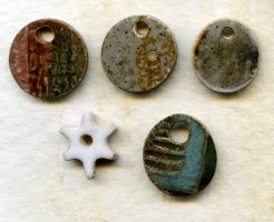 Ceramic charms by Osa-Art-Farm