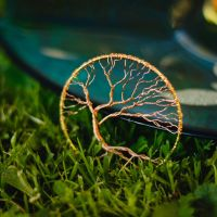 Windy - wire tree pendant by beads-poet