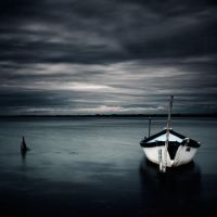 the boat and the pond by julie-rc