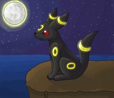 Moonlit Umbreon by GoldFlareon