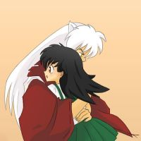 Inuyasha and Kagome by Anigh