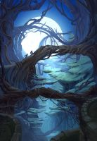 mysterious forest by RdRabbit