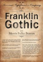 Franklin Gothic Poster by itsmylove