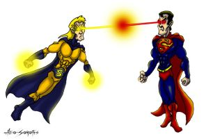 MarvelVsDC: Sentry Vs Superman by TheoSar