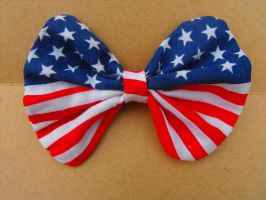 Stars and Stripes Bow by XiaAmane