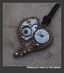 Steampunk heart pendant- by bodaszilvia