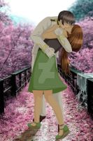 [JapAnd] Japanese kissing a woman in a green dress by ArantxaCosplayer