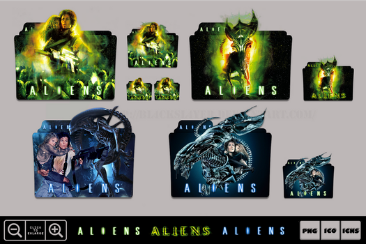 Aliens (1986) Folder Icon Pack by Bl4CKSL4YER