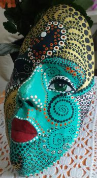 Paper Clay Mask Turqoise Side by sarararon