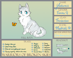 WoBS: Feathermist of Thunderclan (Final profile) by Eeveelutions95