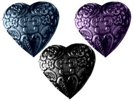 Heart charms by Gothicmamas-stock