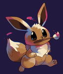Eevee Painter by HappyCrumble