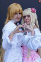 Let's create a heart with our hands ^^ by Kus-Hina