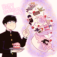 HAPPY BIRTHDAY MOB!! by Pajuxi
