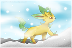 'Glaceon where are you?' [Leafeon Fan Art] by LeyAsakura